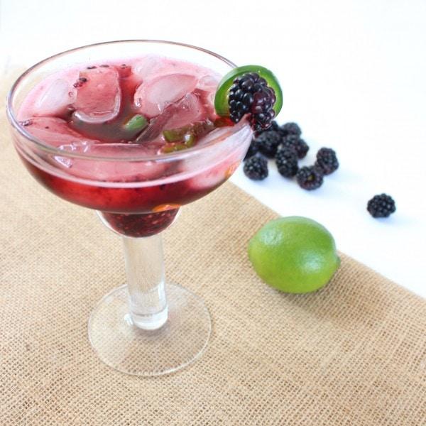 Blackberry Jalapeño Margaritas