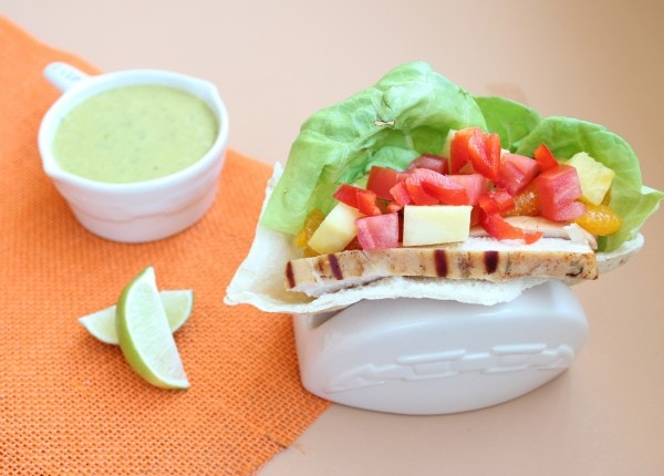Caribbean Chicken Pita Wrap