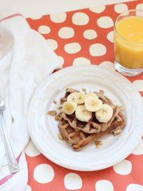 Gluten and Dairy Free Banana Waffles