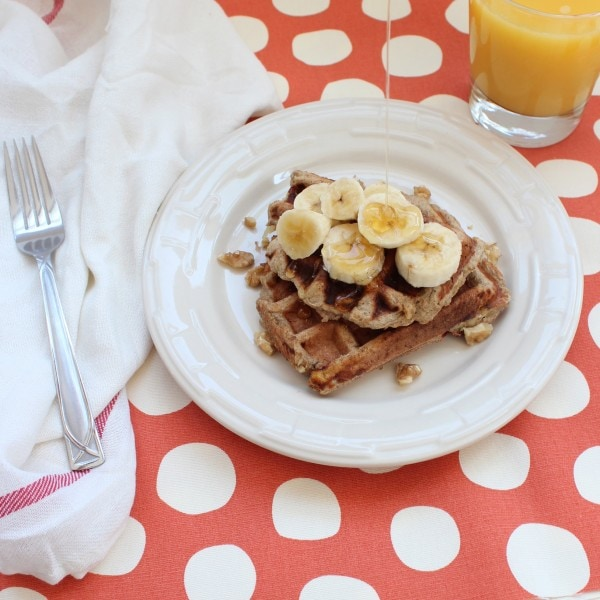 Gluten Free Dairy Free Banana Waffles