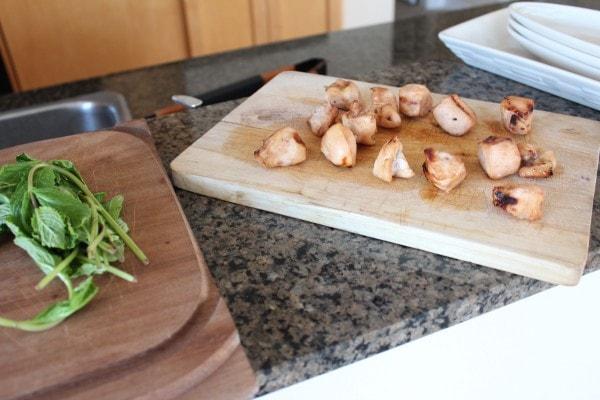 Grilled Bourbon Mint Chicken