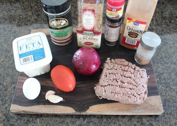 Greek Meatball Ingredients