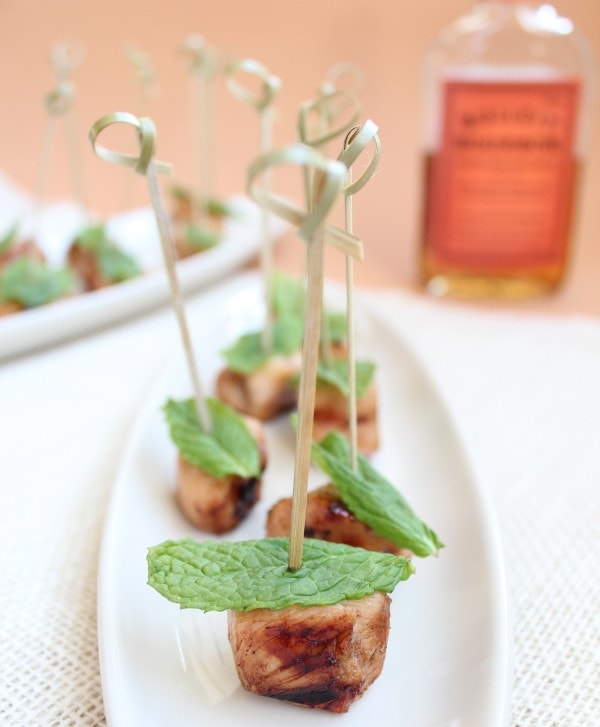 Kentucky Derby Mint Julep Chicken Skewers