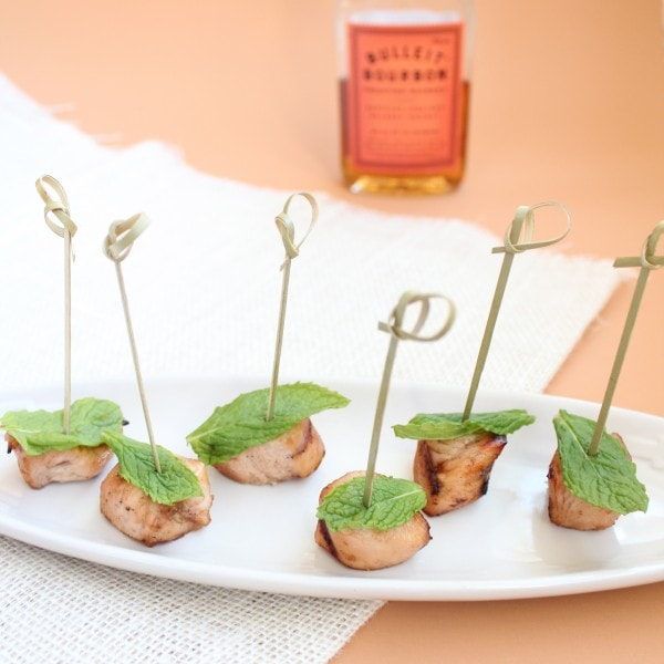 Bourbon Mint Grilled Chicken Bites