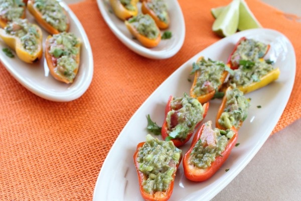 Guacamole Stuffed Sweet Peppers