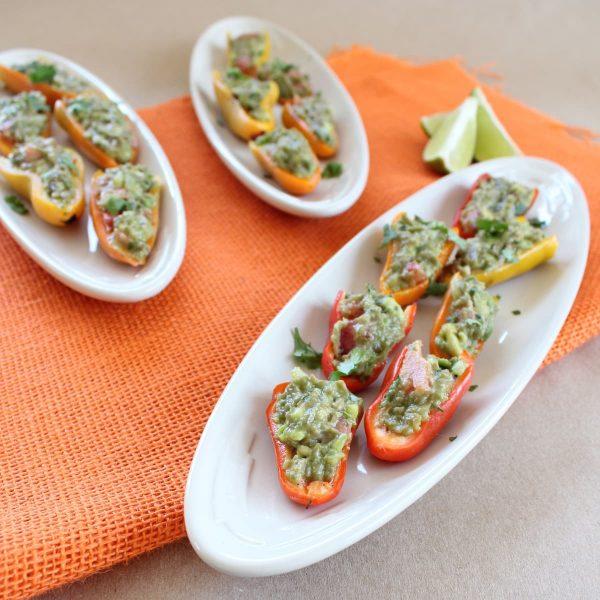 Guacamole Stuffed Sweet Peppers