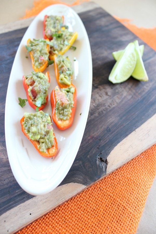 Serrano Chili Guacamole Stuffed Peppers
