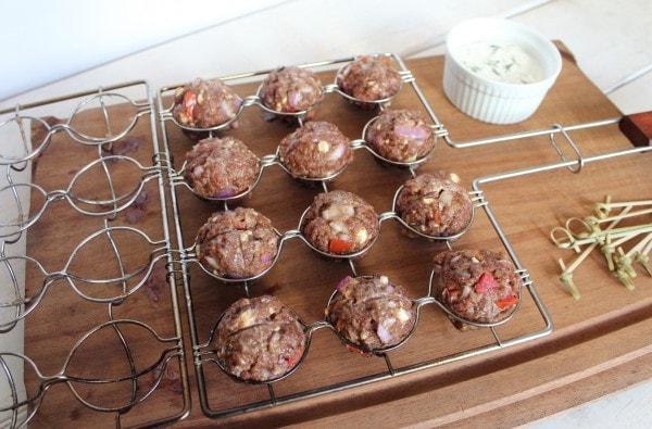 Gluten Free Greek Meatballs with Tzatziki Sauce