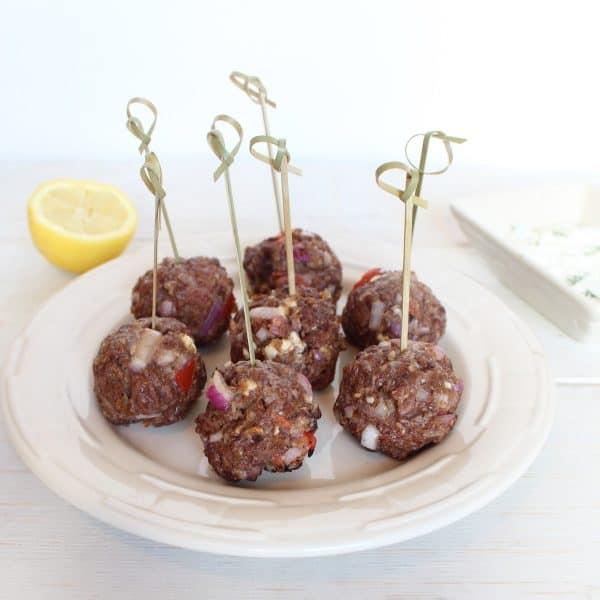 Gluten Free Greek Meatballs