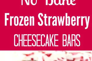 Frozen Strawberry Cheesecake Bars Recipe