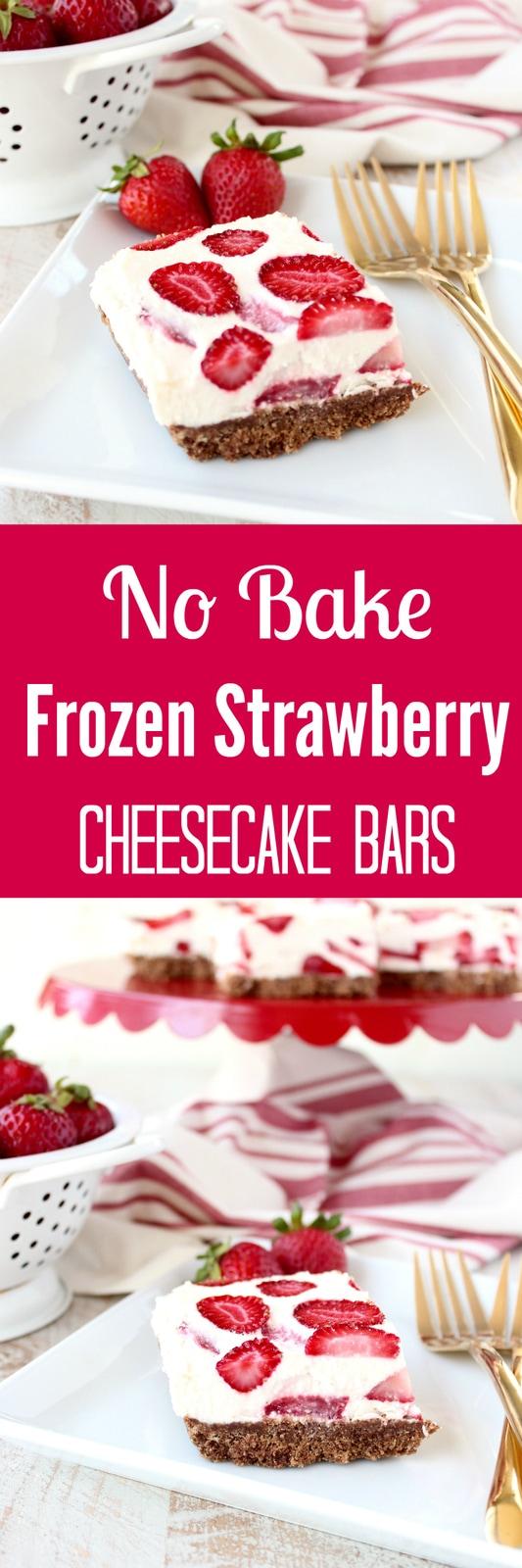 Frozen Strawberry Cheesecake Bars Recipe
