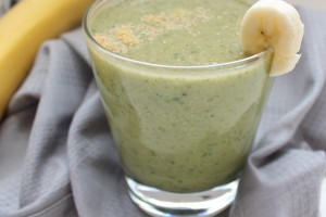 Banana Avocado Flax Seed Smoothie