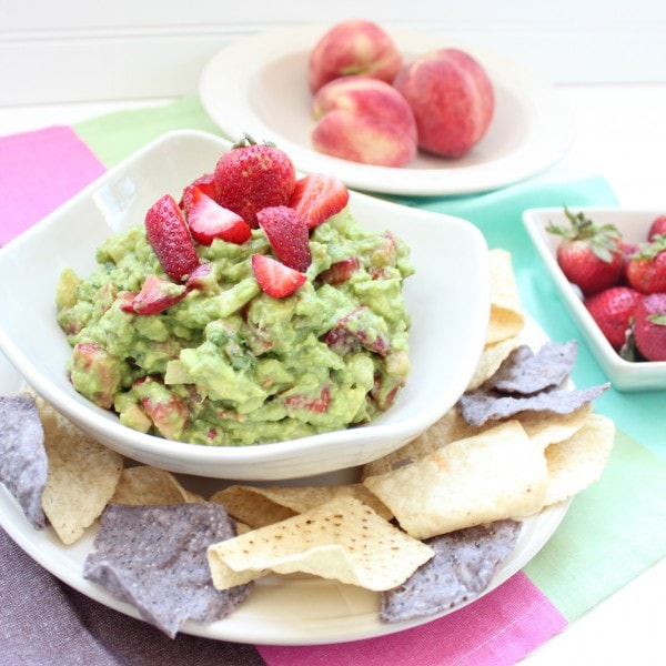 Strawberry Peach Guacamole