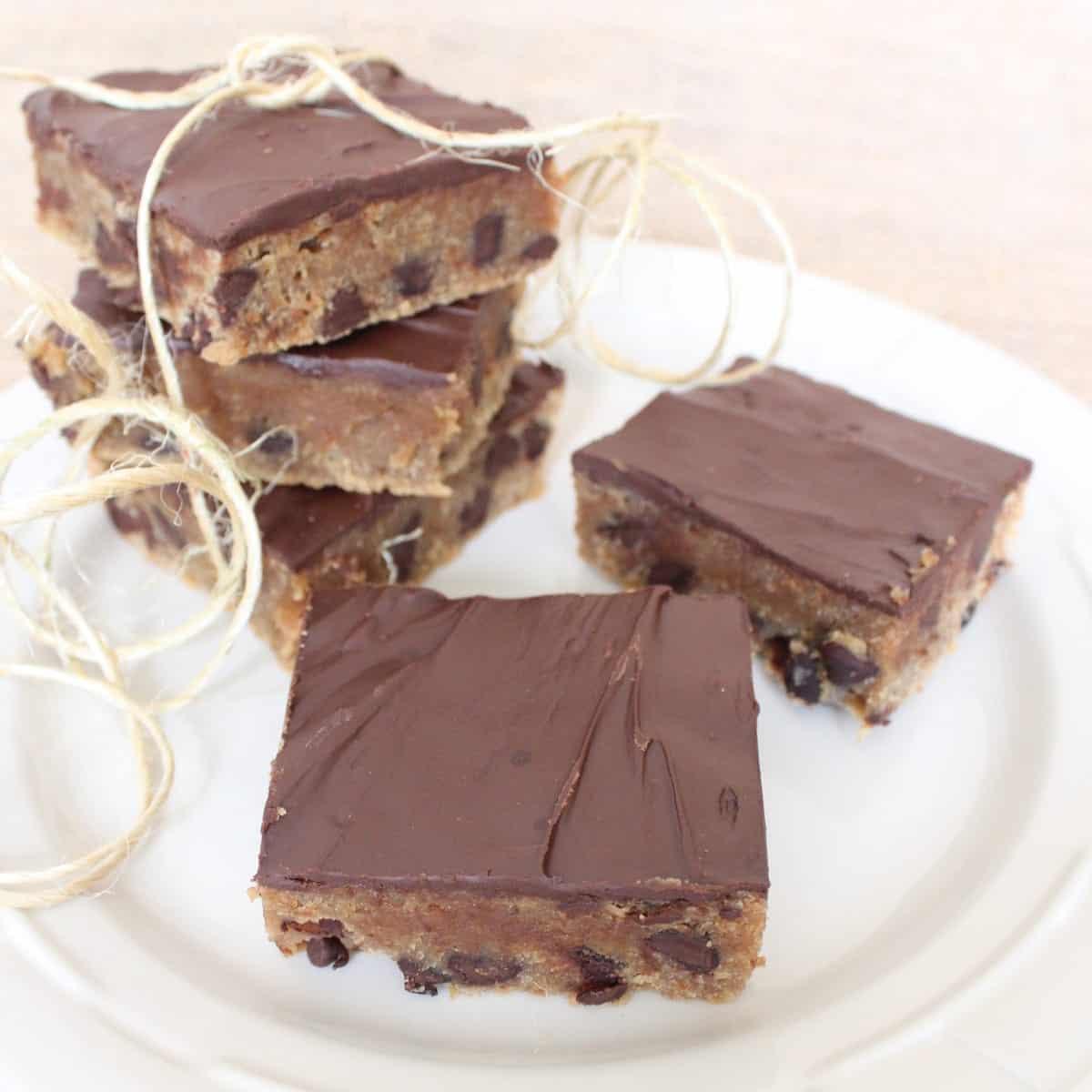 Gluten Free Peanut Butter Chocolate Chip Bars - Little Leopard Book