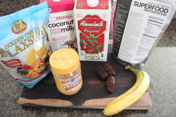 Banana Date Protein Shake Ingredients
