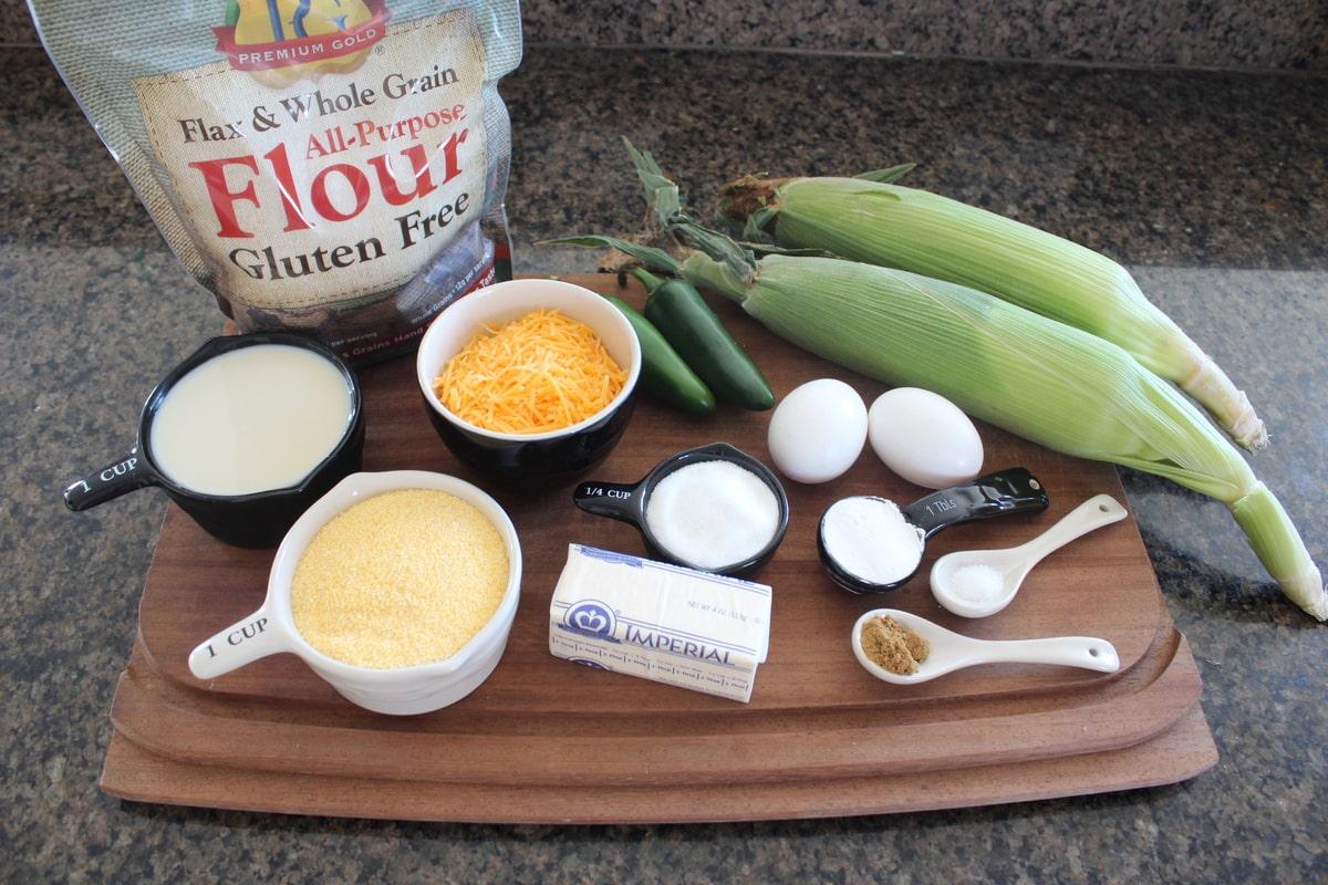 Gluten Free Jalapeno Cheddar Cornbread Ingredients | Little Leopard ...