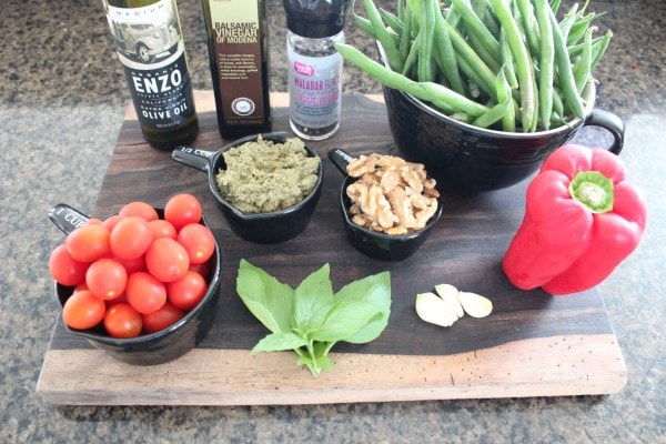Roasted Green Bean Salad Ingredients