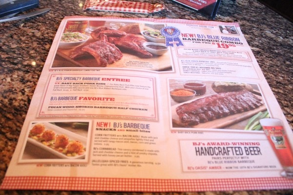 BJs Restaurant Big Poppa Smokers Menu