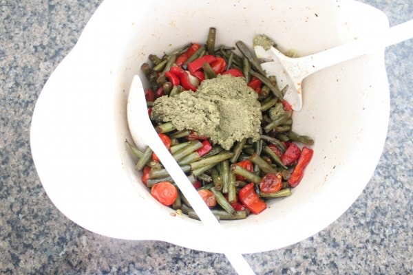 Roasted Green Beans and Pesto Salad Recipe