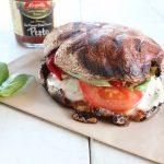 Grilled Portobello Caprese Pesto Sandwich