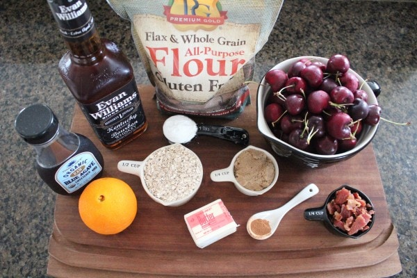 Cherry Bourbon Bacon Crumble Ingredients