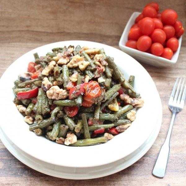 Roasted Green Bean Pesto Salad Recipe
