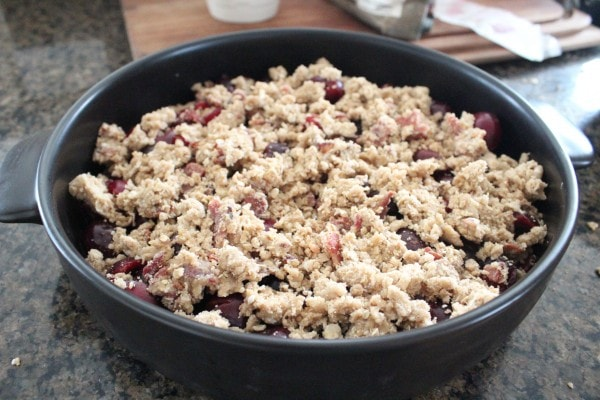 Cherry Bourbon Bacon Crumble Recipe