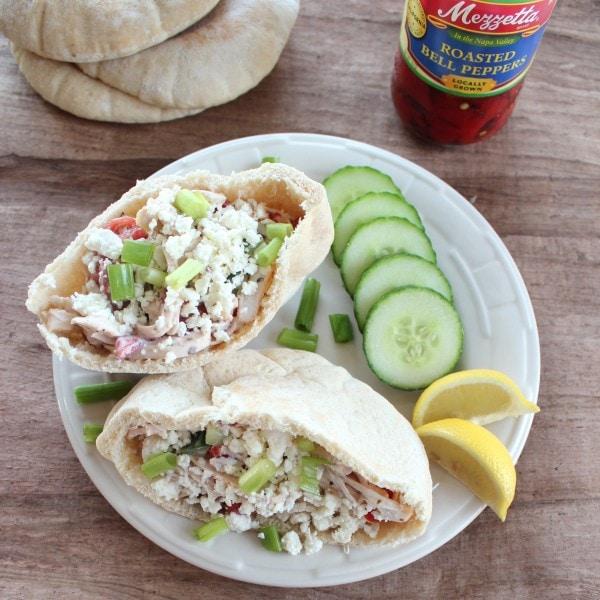 Greek Chicken Salad Sandwich - Little Leopard Book