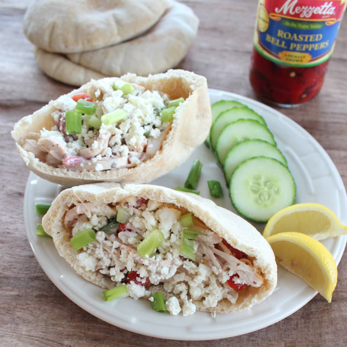 Greek Chicken Salad Sandwich Recipe - Little Leopard Book