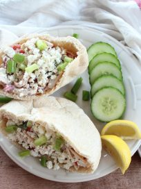 Greek Cucumber Chicken Salad Sandwich