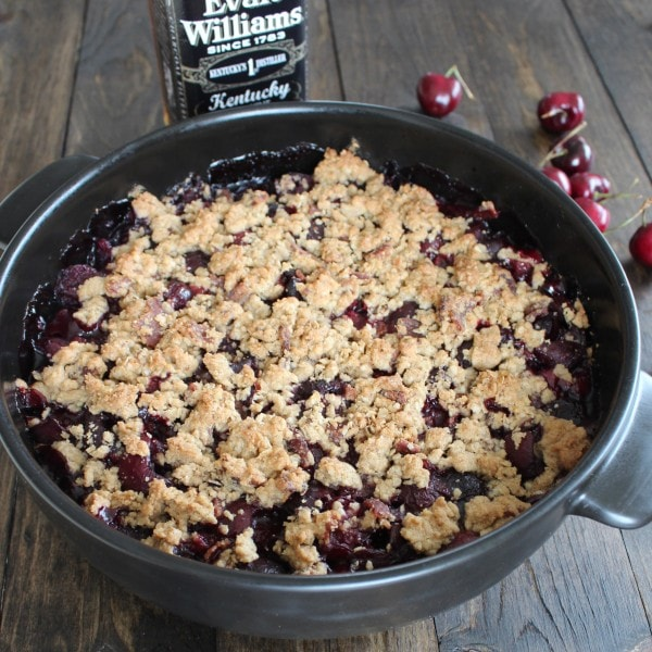 Bourbon Cherry Bacon Crumble Recipe
