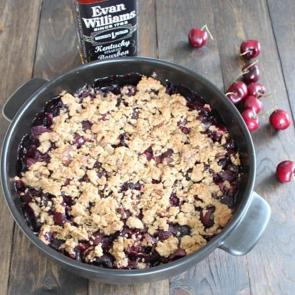 Cherry Bourbon Breakfast Crumble