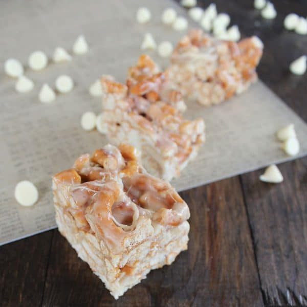 White Chocolate Pretzel Treats