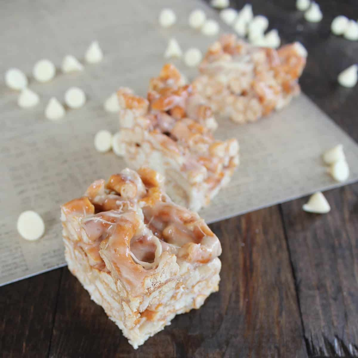 Gluten Free White Chocolate Pretzel Treats
