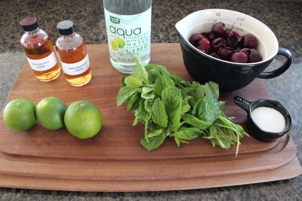 Sparkling Cherry Lime Mojito Punch Ingredients