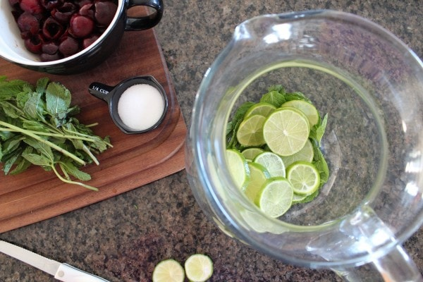 Cherry Lime Mojito Punch Recipe