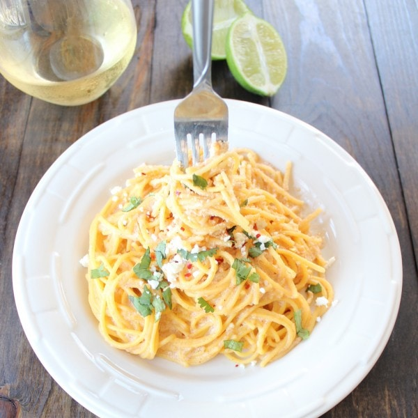 Spicy Mexican Pasta Alfredo