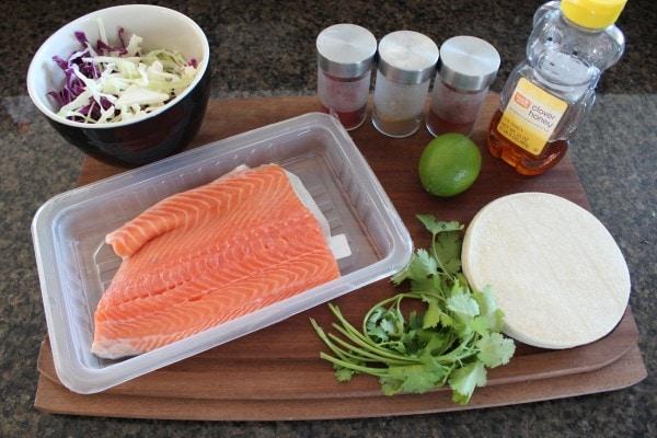 Chipotle Honey Glazed Salmon Taco Ingredients
