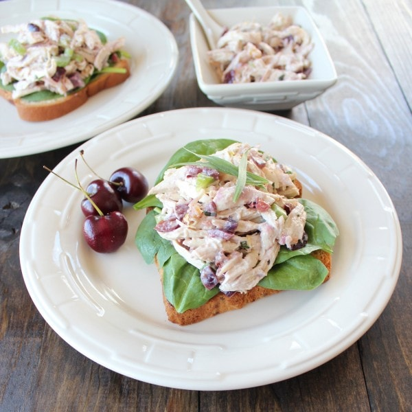 Gluten Free Cherry Tarragon Chicken Salad Sandwich