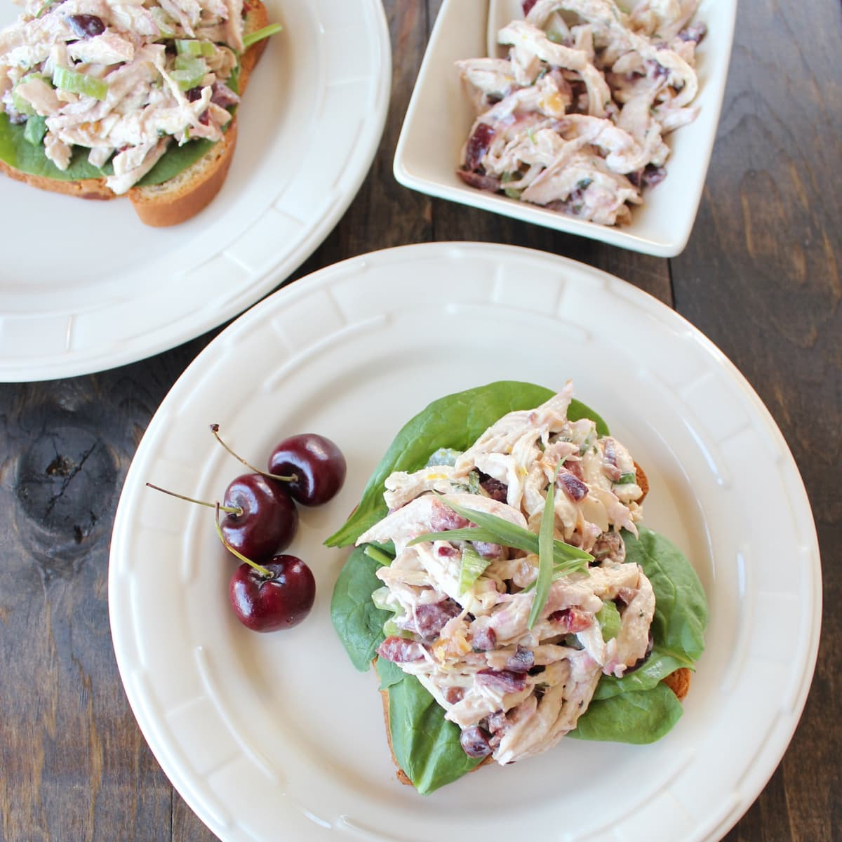 Cherry Tarragon Chicken Salad Sandwich - Little Leopard Book