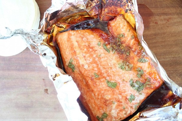 Grilled Chipotle Honey Glazed Salmon