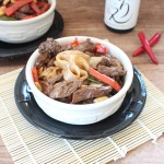 Gluten Free Kung Pao Beef and Noodle Bowl