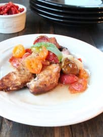 Roasted Balsamic Chicken with Heirloom Tomatoes
