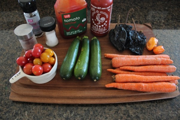 Grilled Vegetables with Ancho Chili Sauce Ingredients