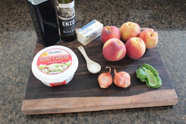 Grilled Peach Flatbread Ingredients