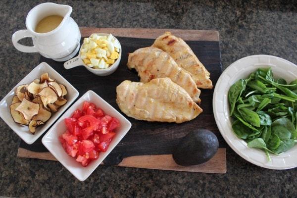 Healthy Cobb Salad Ingredients