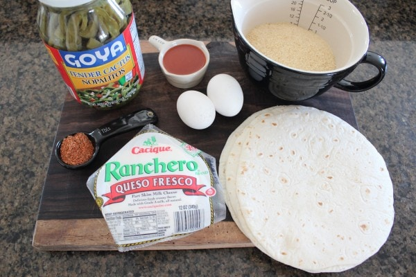 Crispy Cactus Taco Ingredients