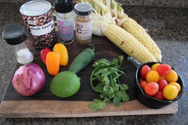 Black Bean Corn Relish Ingredients