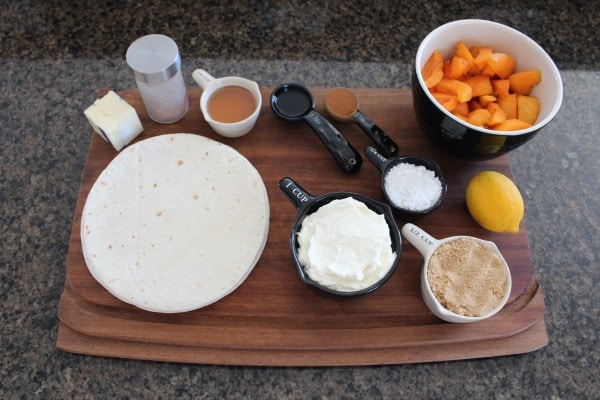 Apricot Rolled Taco Ingredients