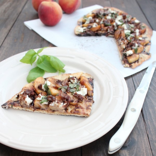 Peach and Goat Cheese Flatbread